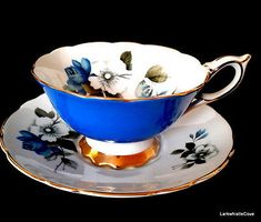 Royal-Stafford-Sky-Blue-Teacup-and-Saucer-Wide-Mouth-Fancy-Blue-Rose-Tea-Cup-Set