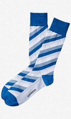 Angled Stripe Dress Socks | Express