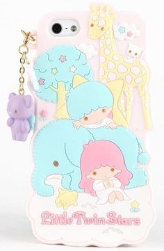 """""""Phone cases & pouches"""": Little Twin Stars """"Zoo"""" phone case, as courtesy of Sanrio"""
