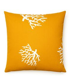 Take a look at this Mango & White Coral Indoor/Outdoor Pillow by Frog Hill Designs on #zulily today!