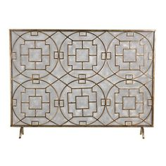 """Sterling Industries 51-10160 Geometric Fire screen, >  Specifications: Height: 35"""" Width: 7"""" Length: 46"""" Material: Other Metals Product Weight: 8 lbs About Sterling Industries With a team of recognized international designers and engineers leadi... Check more at http://farmgardensuperstore.com/product/sterling-industries-51-10160-geometric-fire-screen/"""