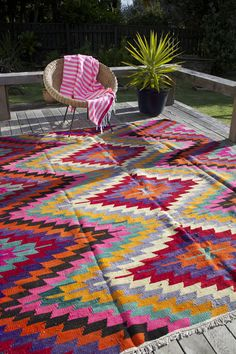 Izzy and Jean Co. brightly colored rugs