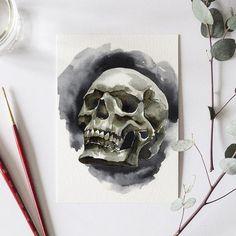 Skull Bonus Watercolor Kit Bonus Project - Let& Make Art Watercolor Kit, Watercolor Projects, Watercolor Artists, Let's Make Art, Halloween, Crane, Skull Illustration, Scary Art, Skull Painting