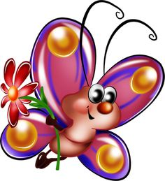 """Photo from album """"Рисованные бабочки"""" on Yandex. Cartoon Butterfly, Butterfly Books, Butterfly Clip Art, Cute Butterfly, Butterfly Wallpaper, Cute Images, Cute Pictures, Painting For Kids, Art For Kids"""