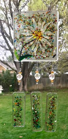 Fused Glass Jewelry, Fused Glass Art, Glass Wall Art, Glass Paperweights, Stained Glass Art, Mosaic Glass, Glass Fusion Ideas, Glass Fusing Projects, Glass Wind Chimes