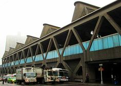 George Washington Bridge Bus Station from Fort Washington Avenue, New York, 1963