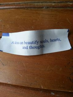 Best fortune cookie quote I've ever got.  Yummy yumm Chinese food :)