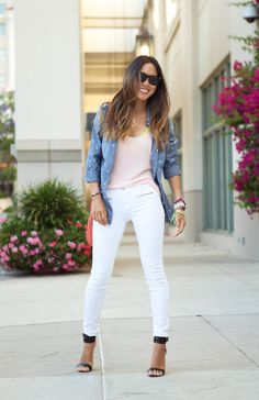 White pants - Great for Spring