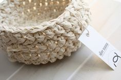 Crocheted Fabric Bowl ~ taking crochet further
