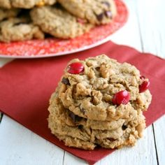 Extra large peanut butter oatmeal cookies, loaded with chips and candies!