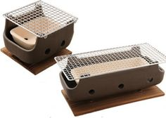 I want a Konron grill. It's portable and have a rectangular shape that is perfect for cooking skewered food.