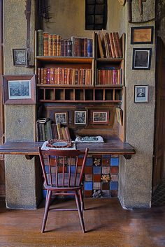 Located adjacent to Henry Mercer's original bedroom in Fonthill Castle, the Study is the second floor main room which contains the Skull