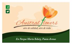 Marca y tarjeta, Austral Flowers. Equipo finalista de Programa Exploro mi Camino.