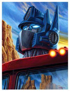 Optimus Prime by Jason Edmiston – Transformers Prints