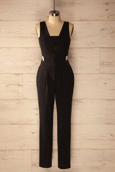 Holstebro - Sleeveless black jumpsuit