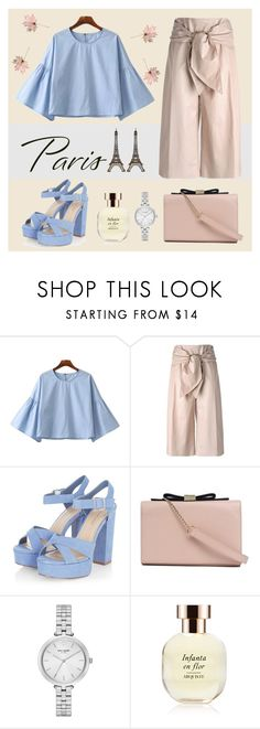 """Love in Paris"" by ayuparamita31 ❤ liked on Polyvore featuring Chicnova Fashion, MSGM, See by Chloé, Kate Spade, Arquiste Parfumeur and fallgateaway"