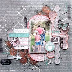 Kaisercraft - Dream Big - Rachael Funnell Scrapbooking Layouts, Scrapbook Pages, Smash Book Pages, Paper Doilies, Flower Stamp, Photo Layouts, General Crafts, Clear Stamps, Paper Piecing