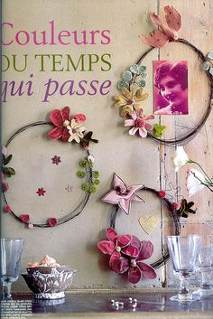 wire and flower frames