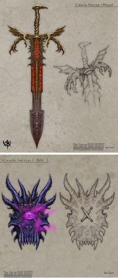 """Conjunto da fenda:  Escudo: aterrorizar  Espada: desafia o inimigo para um """"duelo justo"""""""