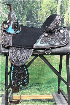 "TW101DBTQ-A HILASON BROWN TREELESS WESTERN TRAIL BARREL RACING SADDLE 17"" Western Horse Saddles, Horse Bridle, Horse Halters, My Horse, Horse Love, Western Tack, Breyer Horses, Barrel Racing Saddles, Barrel Racing Horses"