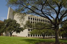 Perry-Castañeda Library (PCL) -- The University of Texas at Austin. The building is shaped like the state of Texas!