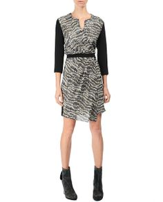 I have just the boots to match this with. rag & bone Official Store, Leighton Dress, black fl, Womens : Ready to Wear : Dresses, W2363097CRBS