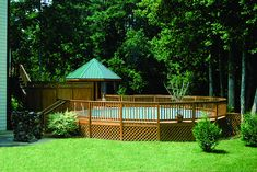 beautiful above ground pool with decking and fence by SwimmingPool Pics, via Flickr