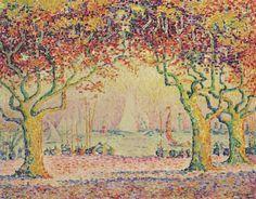 Paul Signac (1863-1935) Les Allees, Cannes