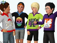 Boys Halloween Sweater by Wimmie - Sims 3 Downloads CC Caboodle