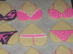 Lingerie Cookies for Bridal Party
