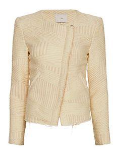 IRO Mepsie Lurex Detail Jacket: Cream