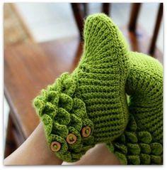 Yeşil Örgü Patik Yapılışı