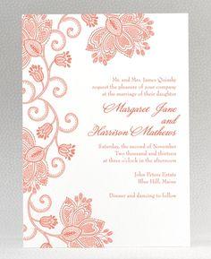 Duchesse Letterpress Wedding Invitation