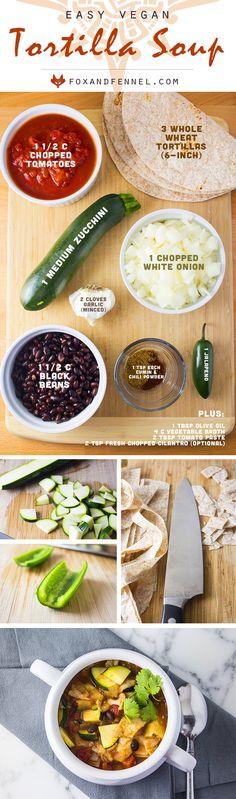 Vegan Tortilla Soup recipe by Fox & Fennel