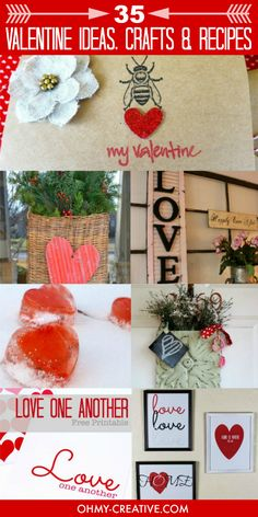 35 Valentine Inspiration Ideas, Crafts and Recipes  |  OHMY-CREATIVE.COM