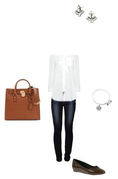 """OOTD 17/10/2016"" by ladykbaez on Polyvore featuring Levi's, 10 Crosby Derek Lam, Soft Style By Hush Puppies, BaubleBar, Alex and Ani and Michael Kors"