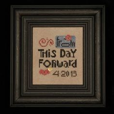Heart in Hand Needleart - From this Day Forward - Cross Stitch Pattern with Embellishments