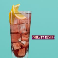 To make a Velvet Elvis, pour Chambord, Jack Daniel's whiskey and Lemonade over ice, squeeze in two lemon wedges and garnish with a wedge of lemon.