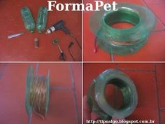 Foto: FormaPet - Ideia de formas para bobinas de fios ou linhas. A partir de 2…
