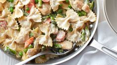 Yes, it's hard to believe how easy this creamy, veggie-packed chicken pasta is to make, or that you need only one skillet to make it, but what will surprise you most is how much your family will love it.