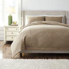 Signature Design by Ashley Light Brown 3-piece Duvet Cover Set | Overstock.com Shopping - The Best Deals on Duvet Covers