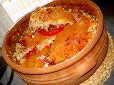 Bouyiourdi (Spicy baked feta and tomatoes) Cyprus Food, Greek Cheese, Greek Beauty, Greek Recipes, Different Recipes, Feta, Macaroni And Cheese, Spicy, Veggies