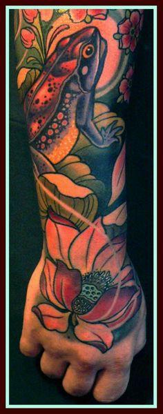 """Tattoo by Lars """"Lu's Lips"""" Uwe from Loxodrom in Berlin"""