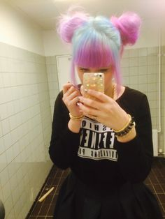 Pastel Space Buns using directions