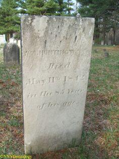 William Huntington Sr Grave Huntingtonville Rural Cemetery, Watertown, New York