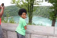 My grandson Nyles Gabriel Olufemi Stuart pointing to the down stream from the Niagara Falls, Ontario, Canada. 2015.