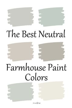 Today we will discuss 12 of the best modern farmhouse paint colors that you can use in your home.