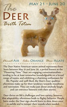 Kokopelli NH | The DEER Birth Totem | May 21 - June 20