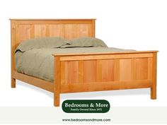 American Woodcraft represents the continual quest for top quality and timeless beauty. The Panel Bed is a distinguished, solidly built platform bed that makes the most of straight lines and symmetry. Well-matched with Transitional, Arts and Crafts, American Country, Coastal, or Asian design style. CLICK through the pin to learn more or call us in Seattle at Bedrooms & More: 1-888-297-8844
