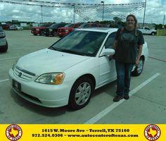 https://flic.kr/p/FsqCB4   Happy Anniversary to Marissa Michelle on your #Honda #Civic from Jesse Zavala at Auto Center of Texas!   deliverymaxx.com/DealerReviews.aspx?DealerCode=QZQH